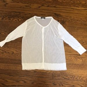 White button down summer sweater. Size small